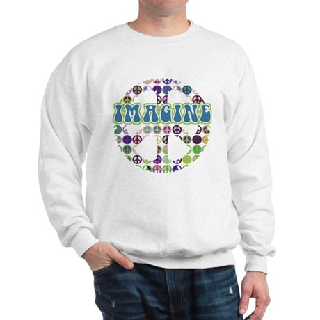 Retro Peace Sign Imagine Sweatshirt