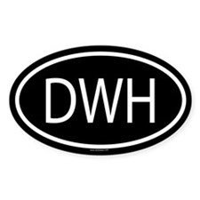 DWH Oval Decal