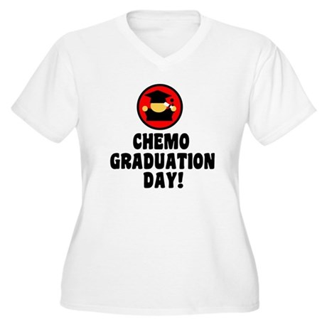 Chemo Graduation Day Women's Plus Size V-Neck T-Sh