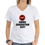 Chemo Graduation Day Women's V-Neck T-Shirt