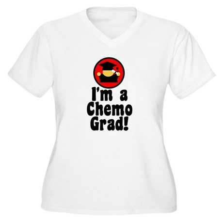 I'm a Chemo Grad Women's Plus Size V-Neck T-Shirt