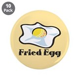 "Fried Egg 3.5"" Button (10 pack)"