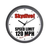 Speed Limit 120 MPH Clock