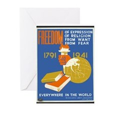 Freedom 1941  Greeting Cards (Pk of 10)
