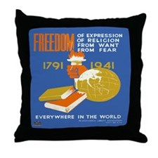 Freedom 1941  Throw Pillow