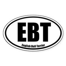 EBT Oval Euro Sticker Decal