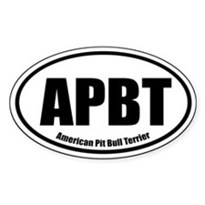 APBT Oval Euro Decal