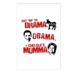 Say no to Drama, Obama, Chelsea's Mama Postcards (