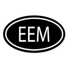 EEM Oval Bumper Stickers