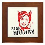 STOP HILLARY Framed Tile