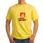 STOP HILLARY Yellow T-Shirt