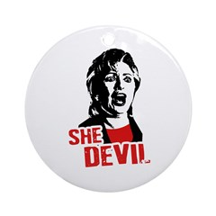She Devil / Anti-Hillary Ornament (Round)