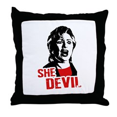 She Devil / Anti-Hillary Throw Pillow