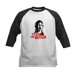 Stop the bitch / Anti-Hillary Kids Baseball Jersey