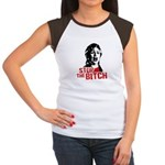 Stop the bitch / Anti-Hillary Women's Cap Sleeve T
