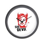 She Devil Wall Clock