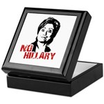Anti-Hillary: No Hillary Keepsake Box