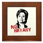 Anti-Hillary: No Hillary Framed Tile