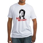 Anti-Hillary: No Hillary Fitted T-Shirt