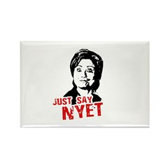 Anti-Hillary: Just say nyet Rectangle Magnet (10 p