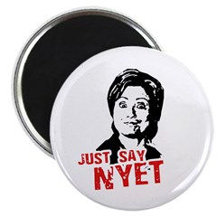 """Anti-Hillary: Just say nyet 2.25"""" Magnet (100 pack"""
