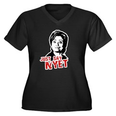Anti-Hillary: Just say nyet Women's Plus Size V-Ne