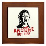 Anyone but Hillary Framed Tile