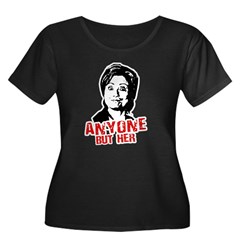 Anti-Hillary: Anyone but her Women's Plus Size Sco