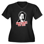 Anti-Hillary: Anyone but her Women's Plus Size V-N