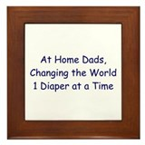 At Home Dad Framed Tile