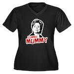 Commie Mommy Women's Plus Size V-Neck Dark T-Shirt