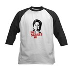 Anti-Hillary: She Scares Me Kids Baseball Jersey