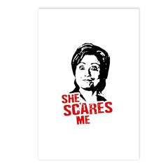 Anti-Hillary: She Scares Me Postcards (Package of