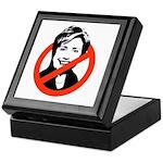 Anti-Hillary Keepsake Box