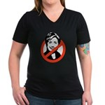 Anti-Hillary Women's V-Neck Dark T-Shirt