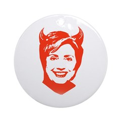 Hillary the Devil Ornament (Round)