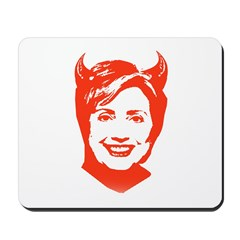 Hillary the Devil Mousepad