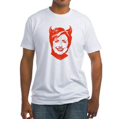 Hillary the Devil Fitted T-Shirt
