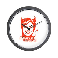 Hillary Clinton is the devil Wall Clock