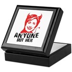 Anti-Hillary: Anyone but her Keepsake Box
