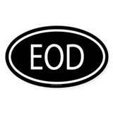 EOD Oval Decal