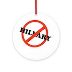 No Hillary Ornament (Round)