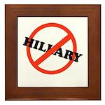 No Hillary Framed Tile