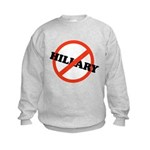 No Hillary Kids Sweatshirt