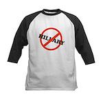 No Hillary Kids Baseball Jersey