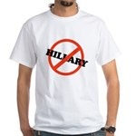 No Hillary White T-Shirt