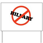 No Hillary Yard Sign