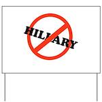 No Hillary Yard Sign