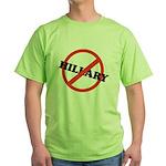 No Hillary Green T-Shirt
