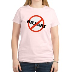No Hillary Women's Light T-Shirt